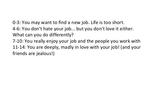 2 - I Love My Job Do You Really Like Your Job