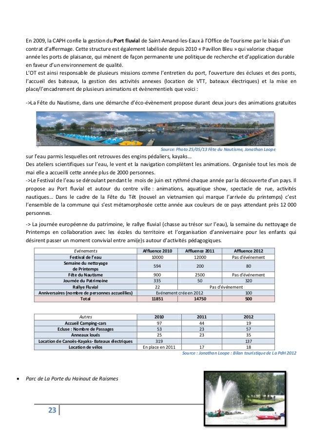 Diagnostic et strat gie touristique sur le territoire de la porte du - Office de tourisme saint amand les eaux ...