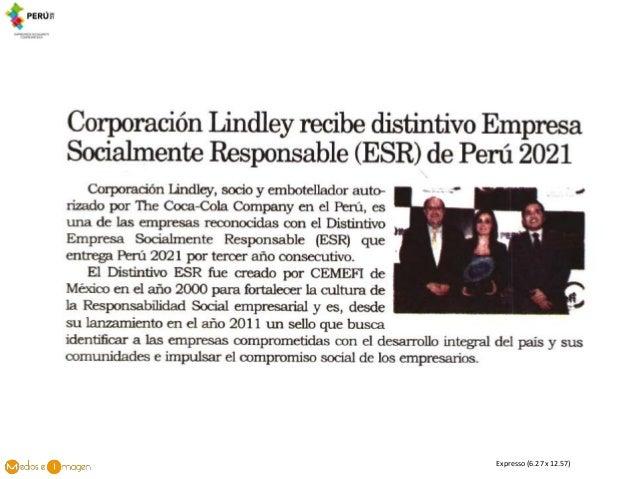 Corporaci N Lindley Recibe Distintivo Esr De Per 2021