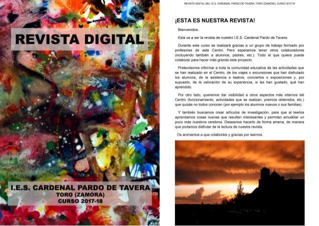 REVISTA DIGITAL DEL I.E.S. CARDENAL PARDO DE TAVERA. TORO (ZAMORA). CURSO 2017/18 UN DÍA DE TORMENTA Detrás de cada hombre...