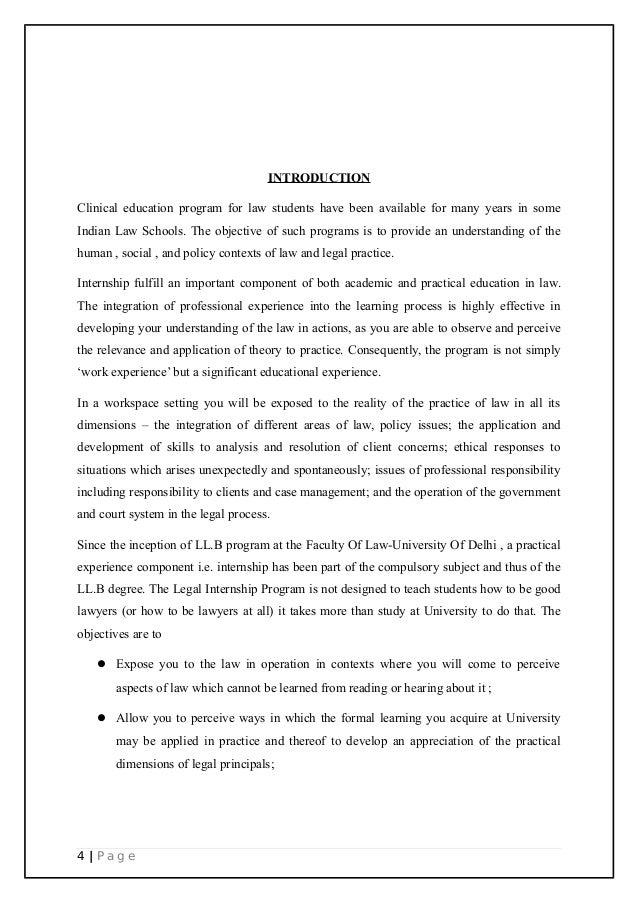 COURT DIARY / INTERNSHIP REPORT