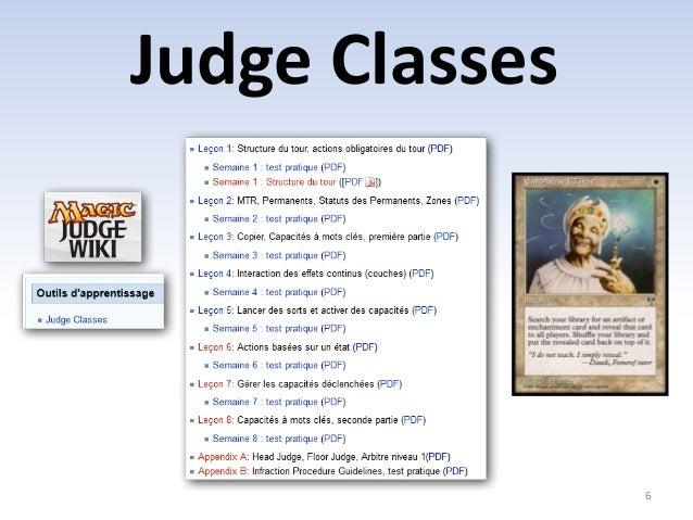 Judge Classes  6