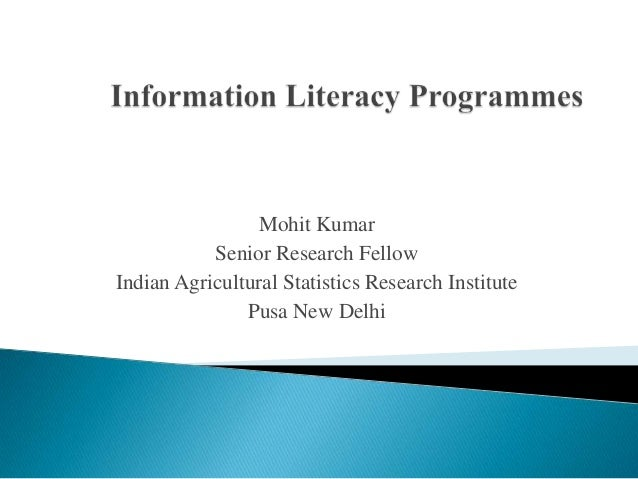 Mohit Kumar Senior Research Fellow Indian Agricultural Statistics Research Institute Pusa New Delhi