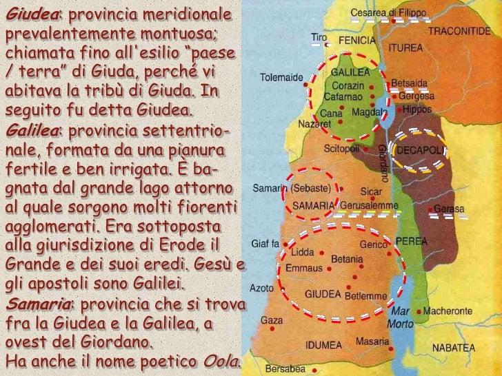 Cartina Geografica Della Palestina Di Oggi.Il Paesedi Gesu