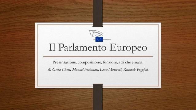 Il parlamento europeo for Parlamento composizione