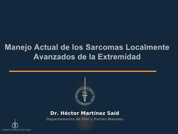 Actualidades en el manejo de sarcoma