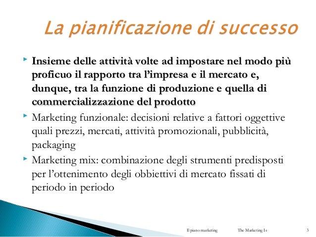 Il piano marketing Slide 3