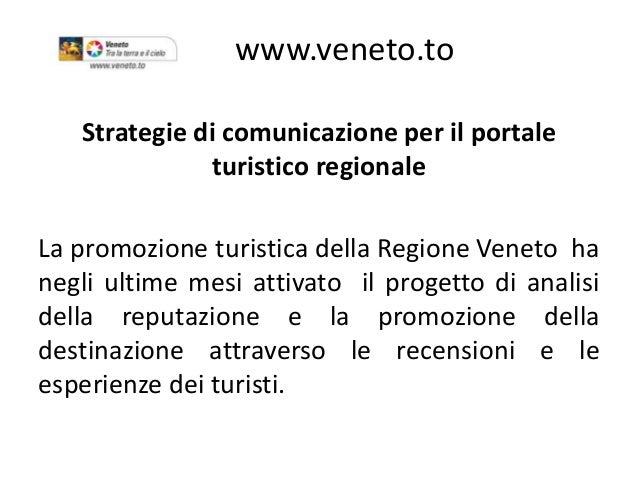 Il portale turistico regionale e la strategia digitale del - Centro veneto del mobile recensioni ...
