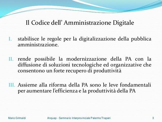 Il procedimento amministrativo informatico Slide 3