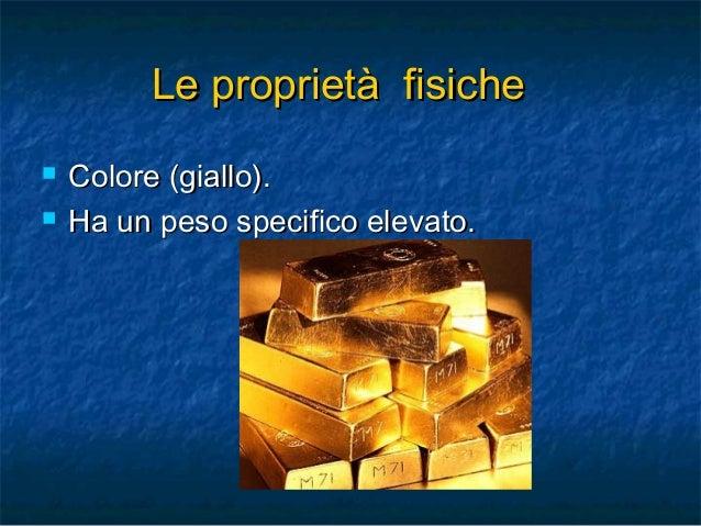 L'Oro - Il Re dei Metalli Slide 3