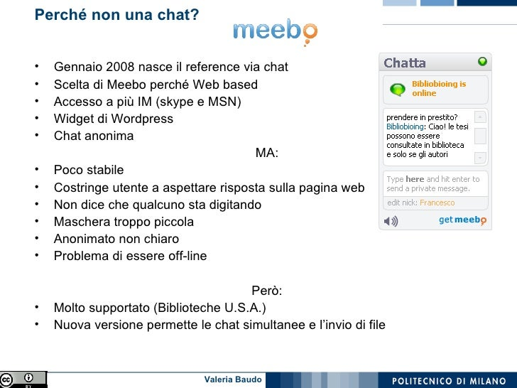 Il reference via chat Slide 3