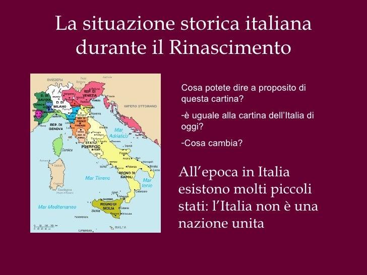 Cartina Dellitalia Nel 400.Il Rinascimento