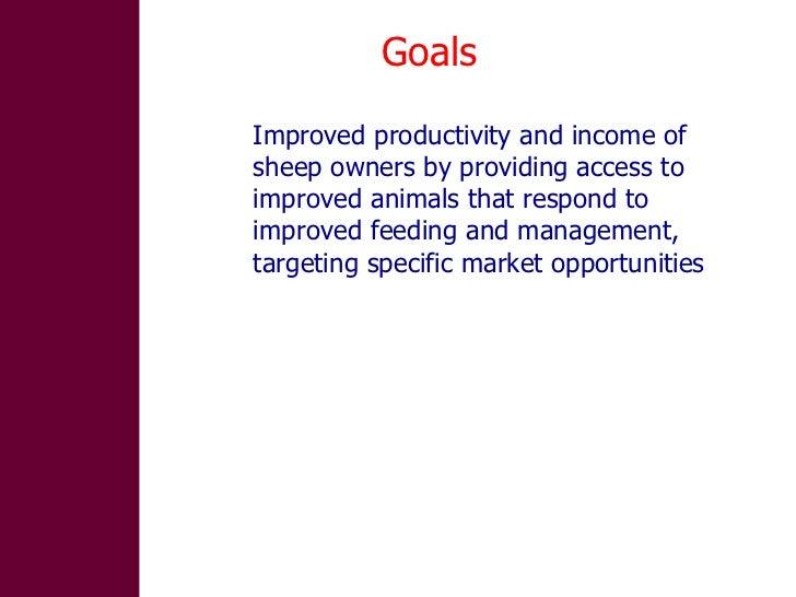Designing community-based breeding strategies for indigenous sheep breeds of smallholders in Ethiopia Slide 3