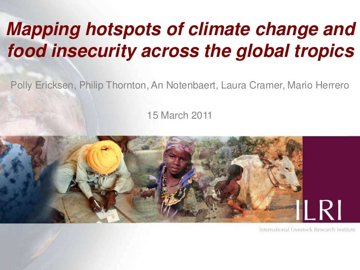 Mapping hotspots of climate change and food insecurity across the global tropics