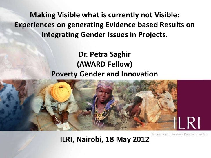Making Visible what is currently not Visible:Experiences on generating Evidence based Results on       Integrating Gender ...