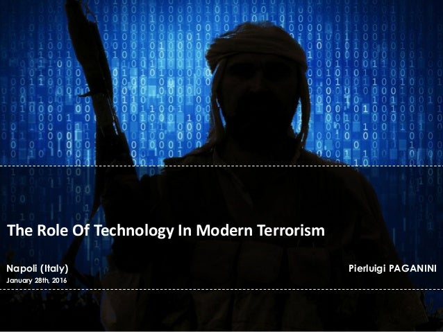 paragraph on technology and terrorism