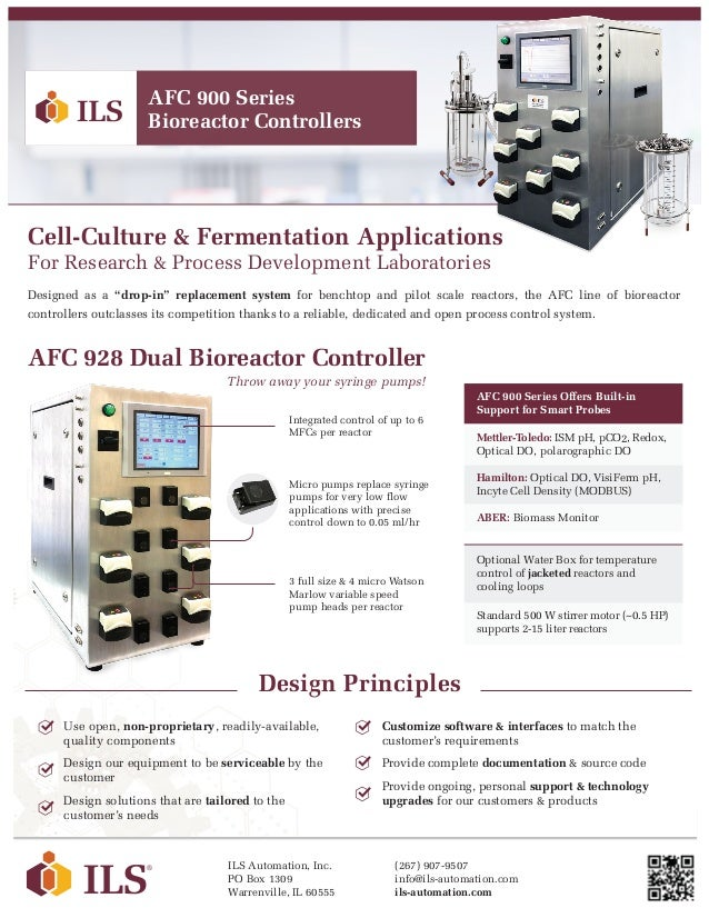 """Cell-Culture & Fermentation Applications For Research & Process Development Laboratories Designed as a """"drop-in"""" replaceme..."""