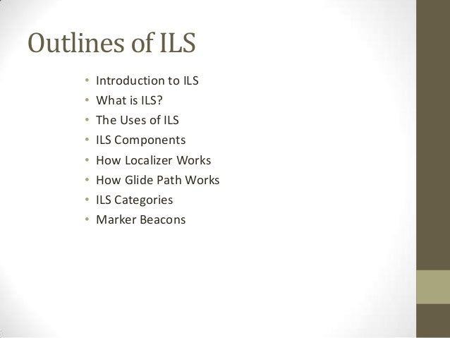 Ils and air traffic Slide 3