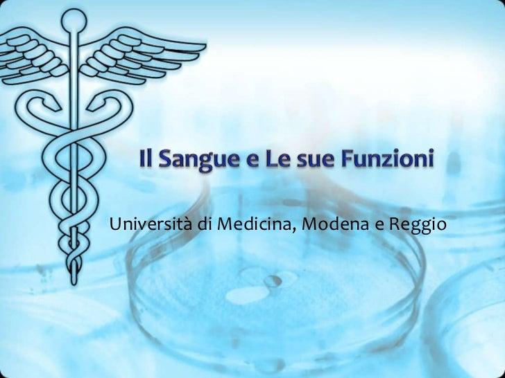 Università di Medicina, Modena e Reggio