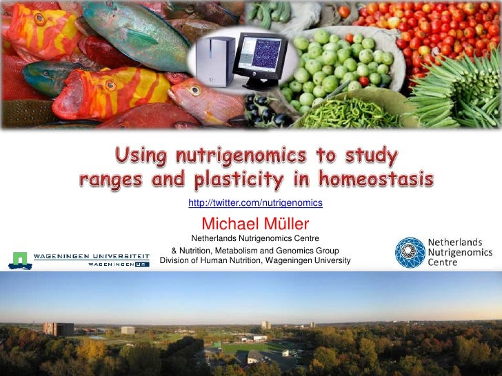 Using nutrigenomics to study ranges and plasticity in homeostasis<br />http://twitter.com/nutrigenomics<br />Michael Mülle...