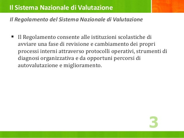 1b16ee26f105 2 Il Regolamento del Sistema Nazionale di Valutazione  3.