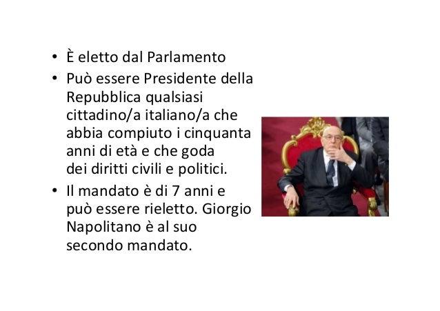 Il Parlamento italiano • Il Parlamento italiano ha la funzione legislativa e si occupa di «controllare» il Governo. • È fo...