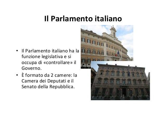 Il sistema politico italiano for Il parlamento italiano