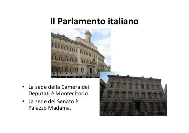 Il sistema politico italiano for Sede senato italiano