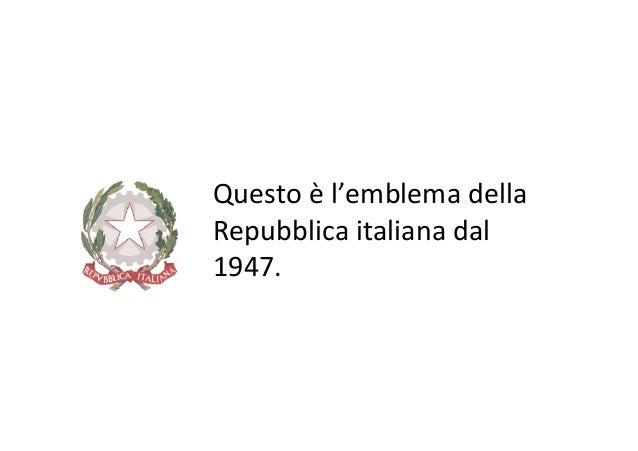 Il primo Presidente della Repubblica • Il primo Presidente della Repubblica entra in carica il 1° gennaio 1948: si chiama ...