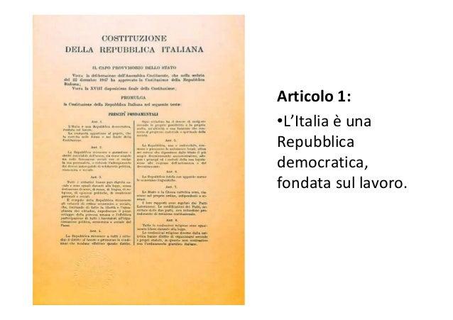 """Che cosa significa? • Repubblica = è una """"res publica"""", una cosa di tutti. • Democratica = tutti hanno gli stessi diritti ..."""