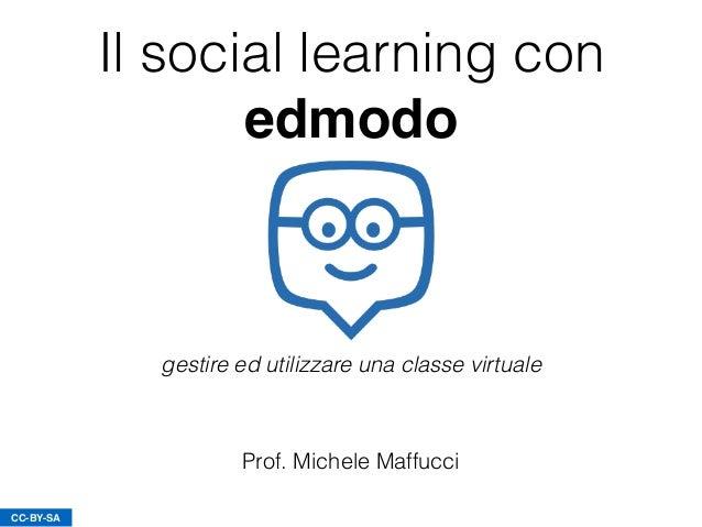 Il social learning con edmodo Prof. Michele Maffucci CC-BY-SA gestire ed utilizzare una classe virtuale