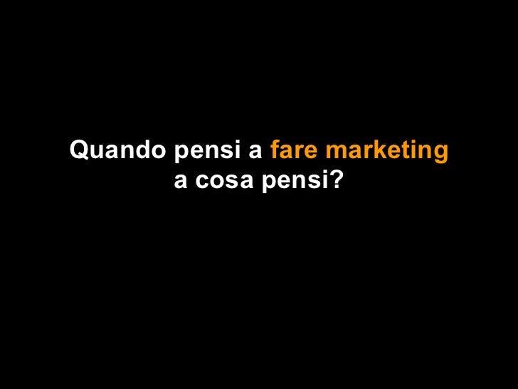 Il Social Media Marketing NON è il Marketing Sui Social Media Slide 2