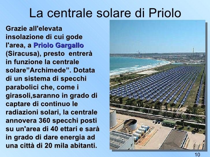 Il solare in italiano - Centrale solare a specchi ...