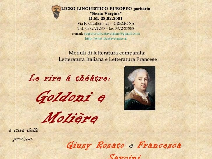 """LICEO LINGUISTICO EUROPEO paritario                                """"Beata Vergine""""                                D.M. 28...."""