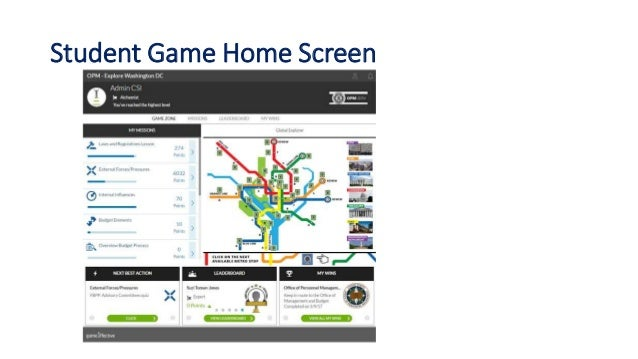 Student Game Home Screen