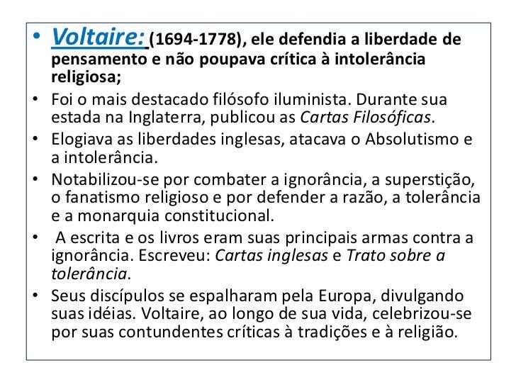 • Jean jacques Rousseau; (1712-  1778), ele defendia a ideia de um estado  democrático que garanta igualdade para  todos;•...
