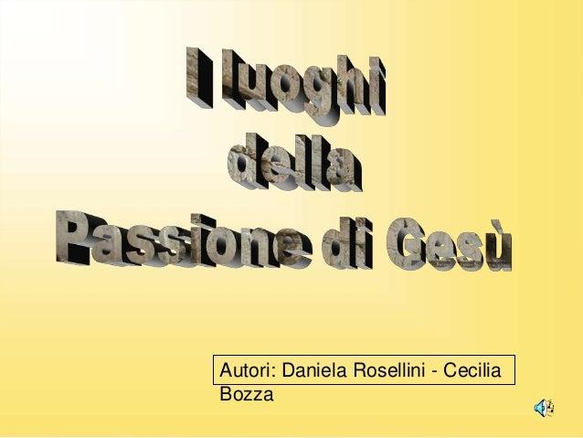 Autori: Daniela Rosellini - Cecilia Bozza