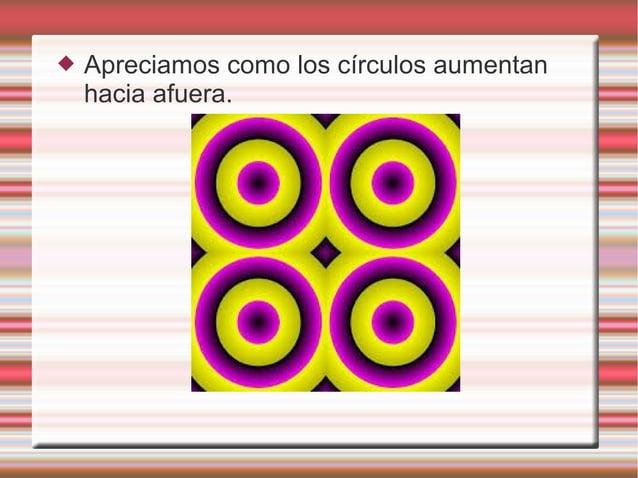  Apreciamos como los círculos aumentan hacia afuera.