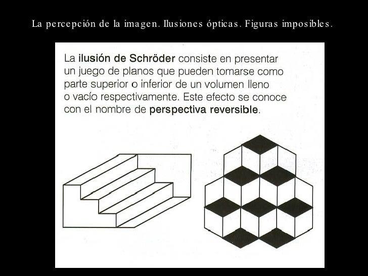La percepción de la imagen. Ilusiones ópticas. Figuras imposibles .