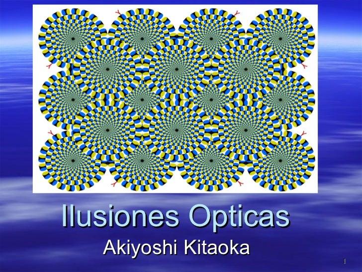 Ilusiones Opticas Akiyoshi Kitaoka