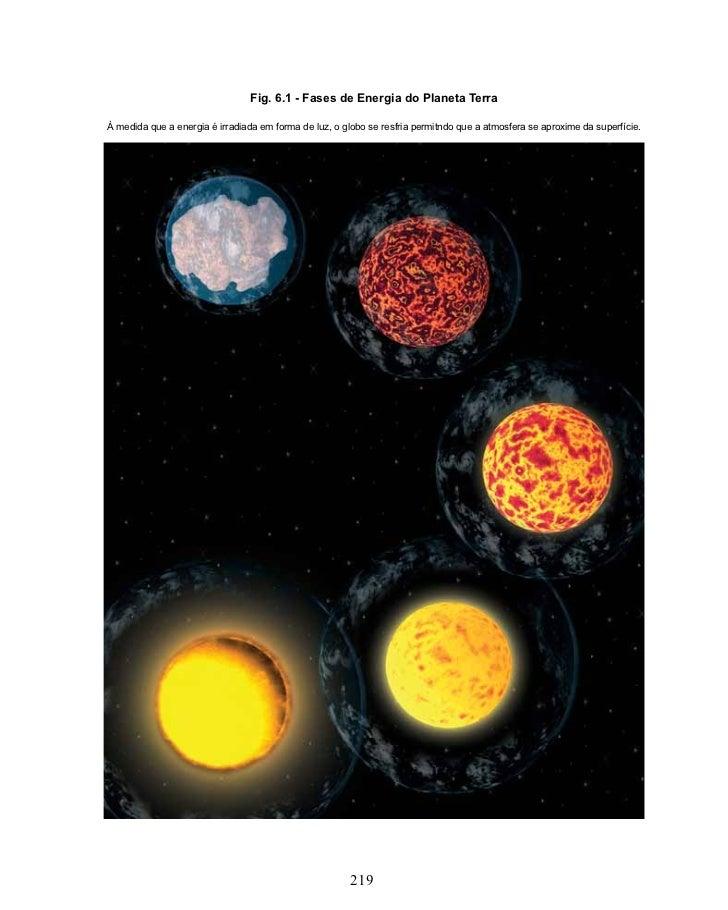 Fig. 6.1 - Fases de Energia do Planeta TerraÀ medida que a energia é irradiada em forma de luz, o globo se resfria permitn...