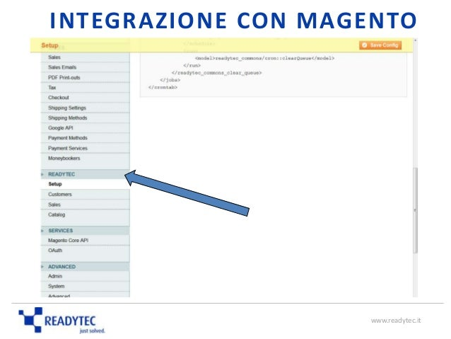 INTEGRAZIONE CON MAGENTO www.readytec.it