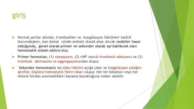 Kanama Diatezi Olan Hastaya Yaklaşım Slide 2