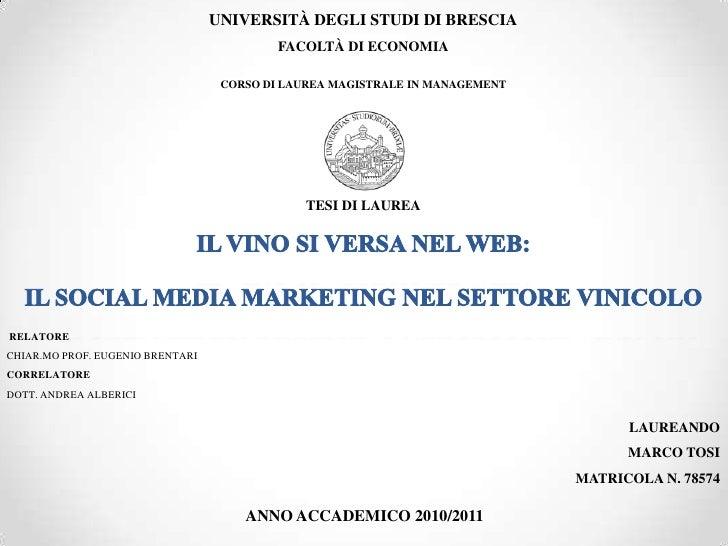 UNIVERSITÀ DEGLI STUDI DI BRESCIA                                           FACOLTÀ DI ECONOMIA                           ...