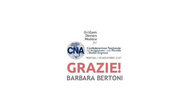 GRAZIE! BARBARA BERTONI