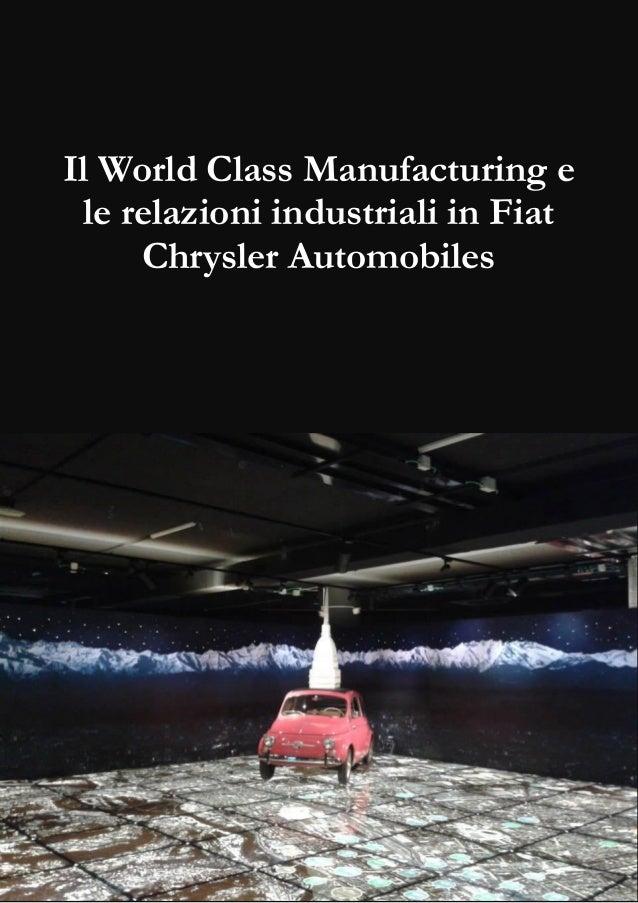 Il World Class Manufacturing e le relazioni industriali in Fiat Chrysler Automobiles