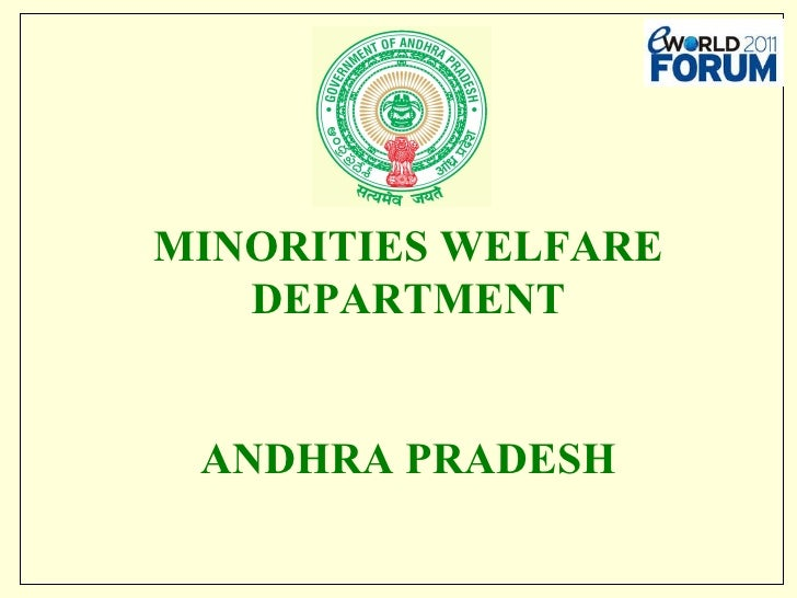 MINORITIES WELFARE DEPARTMENT ANDHRA PRADESH