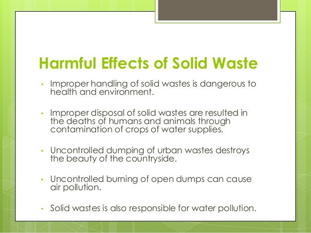 harmful effects of solid waste on the environment