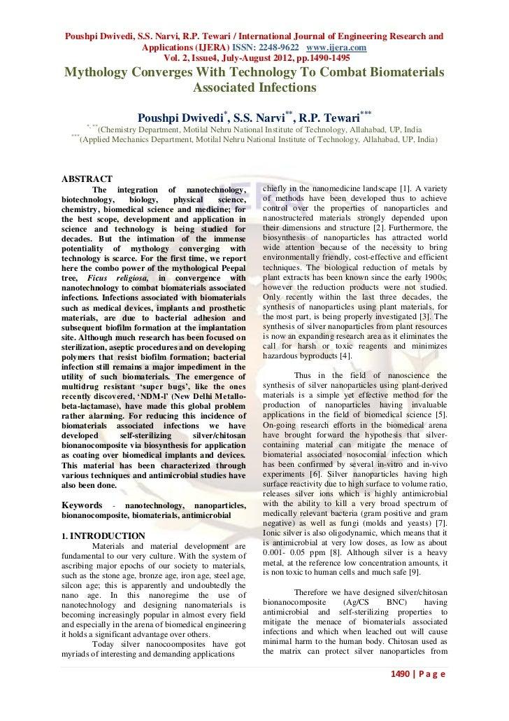 Poushpi Dwivedi, S.S. Narvi, R.P. Tewari / International Journal of Engineering Research and                   Application...