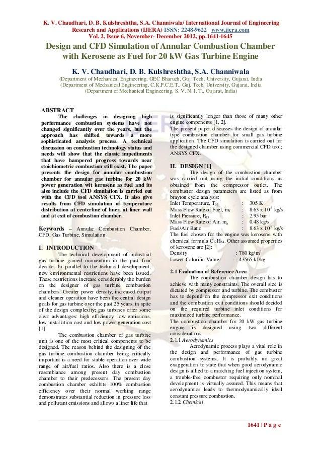 K. V. Chaudhari, D. B. Kulshreshtha, S.A. Channiwala/ International Journal of Engineering            Research and Applica...